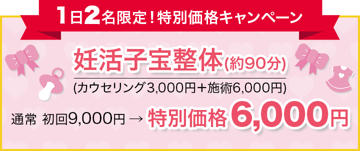 1日2名様限定!特別価格キャンペーン